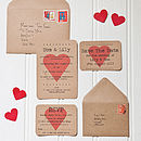 Eco Love Heart Recycled Wedding Stationery