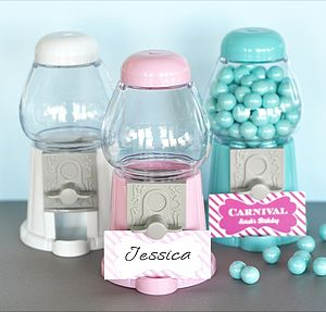 Mini Gumball Machine Favours - dining room