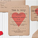 Eco Love Wedding Invitation