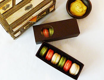 Box Of Six Macarons Exotic Flavours