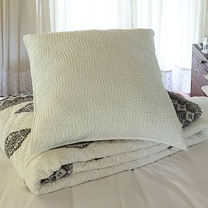 Hand Quilted Extra Large Cotton Cushion Cover