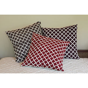 Vita Argyle Design Cotton Cushion Cover - bedroom