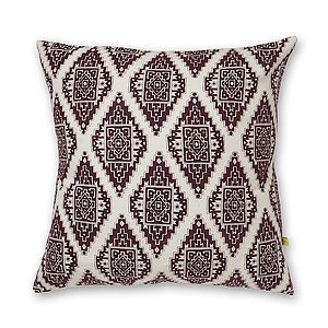 Mysore Aztec Design Cotton Cushion Cover - living room