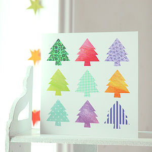Christmas Tree Card Pack - christmas card packs