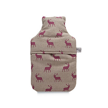 Pink Stag Hot Water Bottle