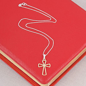 Gold Cross Necklace - children's jewellery