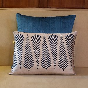Udaipur Spruce Tree Design Cushion Cover - patterned cushions