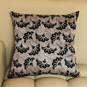 Karnataka Deco Floral Silk Cushion Cover