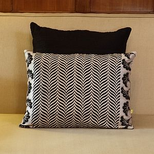 Kannur Soft Chevron Cushion Cover - bedroom