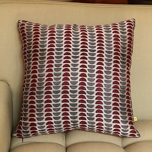 Kochi Sliced Dots Silk Print Cushion Cover - patterned cushions