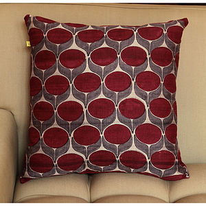 Pondicherry Flower Silk Cushion Cover