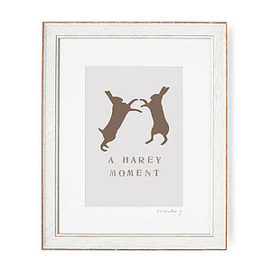 A Harey Moment Print - art & pictures