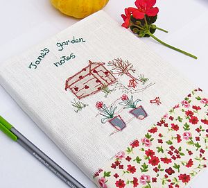 Personalised Garden Notebook