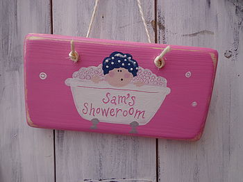 Bather Door Sign