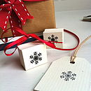 Mini Nordic Snowflake Wooden Stamp