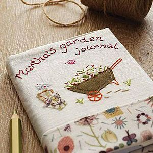 Personalised Garden Journal Notebook - birthday gifts