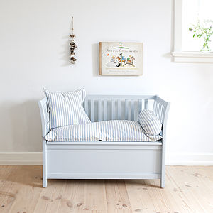 Scandinavian Storage Bench Three Colours - baby's room