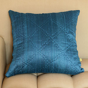 Plain Hand Quilted Silk Cushion Covers - cushions