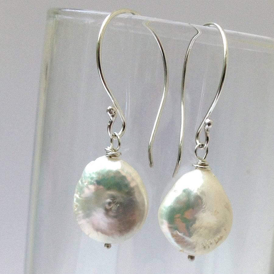 Pearl Drop Earrings By Cathy Newell Price Jewellery