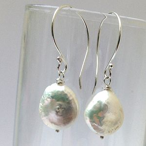 Pearl Drop Earrings - earrings