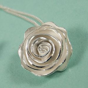 Sterling Silver Rose Pendant - necklaces & pendants