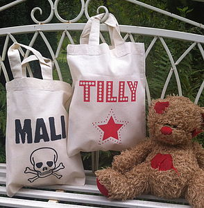 Personalised Gift Bag With Optional Age - baby & child