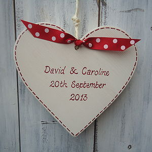 Personalised Wedding Heart - wedding table styling