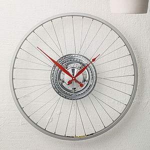 Bike Sprocket Wheel Clock - gifts under £100 for him