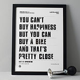 'You Can't Buy Happiness' Screen Print - father's day