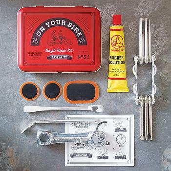 Bicycle Tool And Puncture Repair Kit