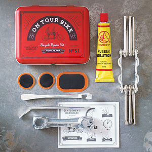 Bicycle Tool And Puncture Repair Kit - gifts for him