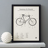 'Anatomy Of A Bicycle' Screen Print - prints & art