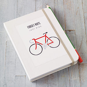 Personalised Bike Notebook - stocking fillers under £15