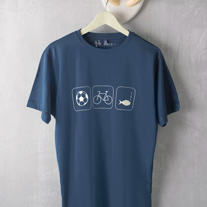 Personalised Hobbies T Shirt - for young men