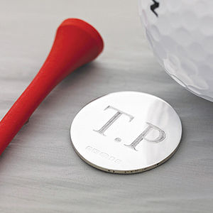 Silver Golf Ball Marker - birthday gifts