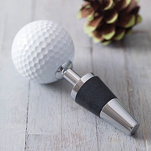 Golf Ball Bottle Stopper - last-minute christmas gifts for him