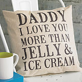 Personalised 'Daddy I Love You' Cushion - father's day