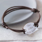 Personalised Oval Plate Bracelet - father's day