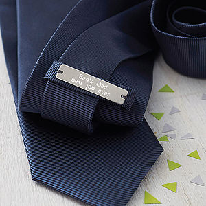 Personalised Men's Silk Tie - shop the christmas catalogue