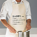 Personalised Dictionary Definition Apron