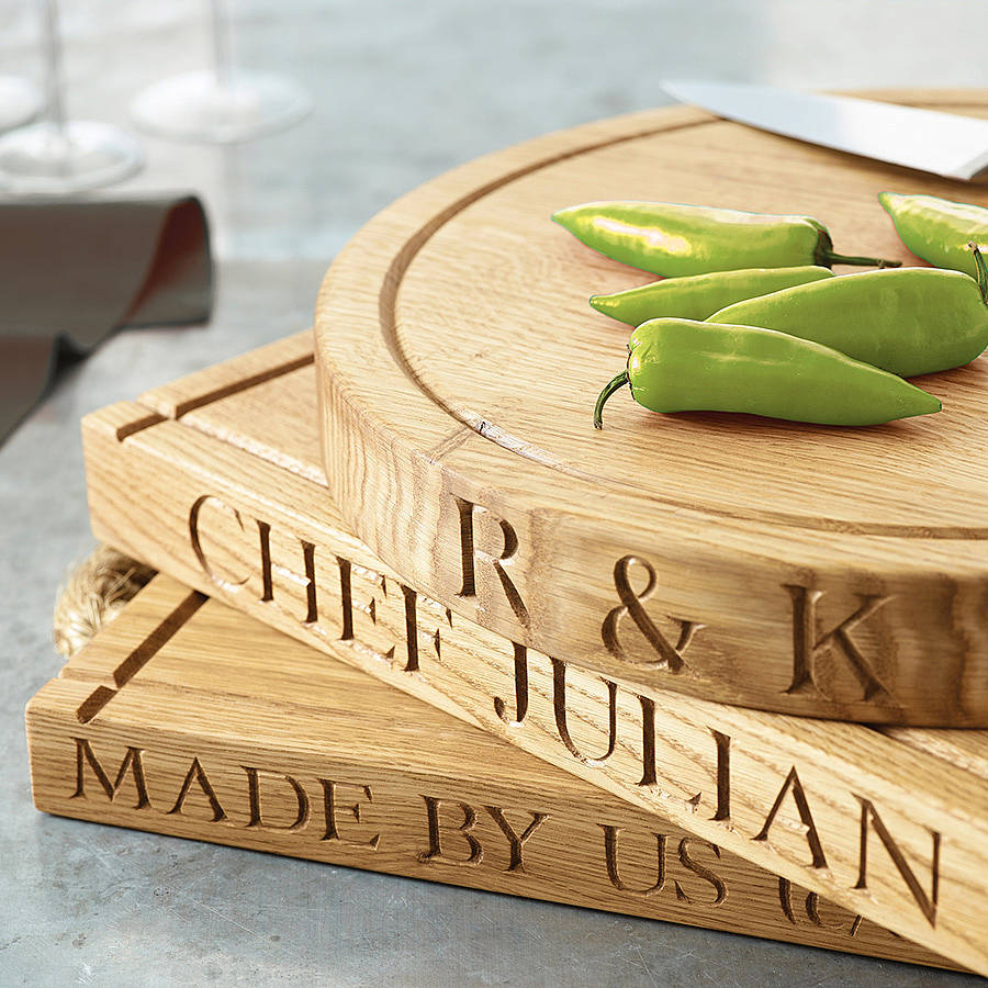 Personalised Oak Chopping Board By The Oak Amp Rope Company