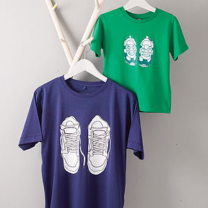 Set Of Dad And Child Trainer T Shirts - men's fashion