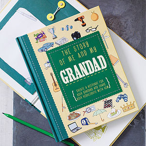'The Story Of Me And My Grandad' Journal - last-minute christmas gifts for him