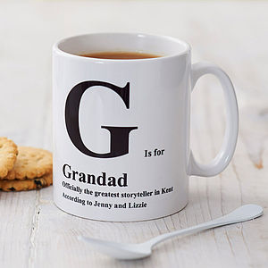 Personalised Initial Mug - stocking fillers under £15