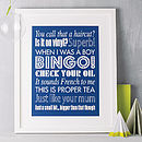 Personalised Family Sayings Print