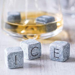 Personalised Whisky Stones Set - for fathers