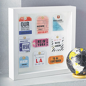 Personalised Travel Tag Artwork - mixed media & collage