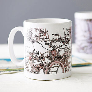 Personalised Map Mug - stocking fillers under £15