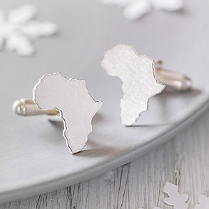 Personalised Country Cufflinks - gifts for travel-lovers