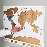 Scratch Off World Map Poster - home